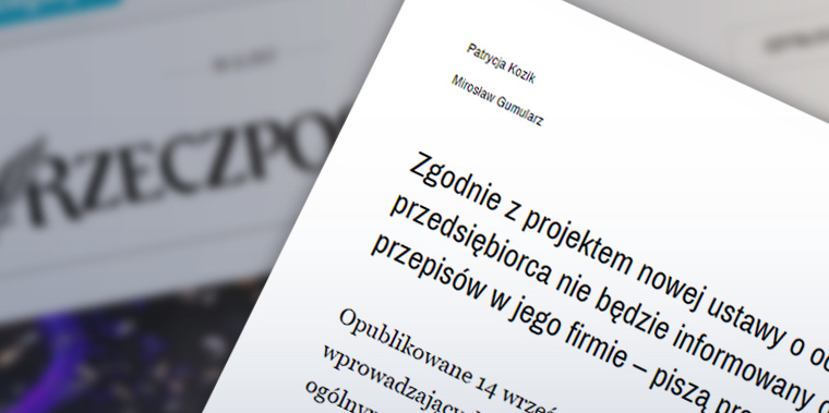 """""""Ważne zmiany dla Biznesu""""- Rzeczpospolita"""