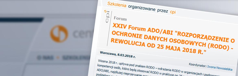 GKK na  XXIV Forum ADO/ABI ROZPORZĄDZENIE O OCHRONIE DANYCH OSOBOWYCH (RODO)