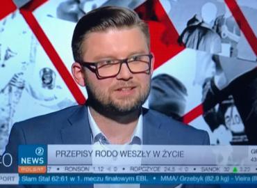 GKK pierwszego dnia stosowania RODO w Polsat 2 News